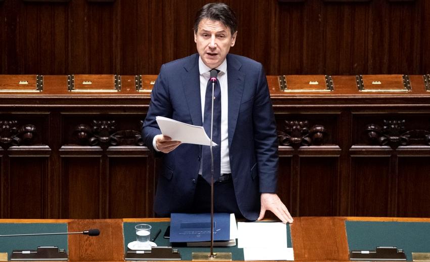 Giuseppe Conte sul Mes per l'Italia alla Camera dei Deputati