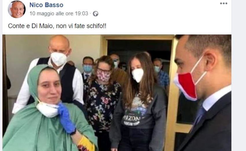 Nico Basso, il post su Facebook contro Conte e Di Maio
