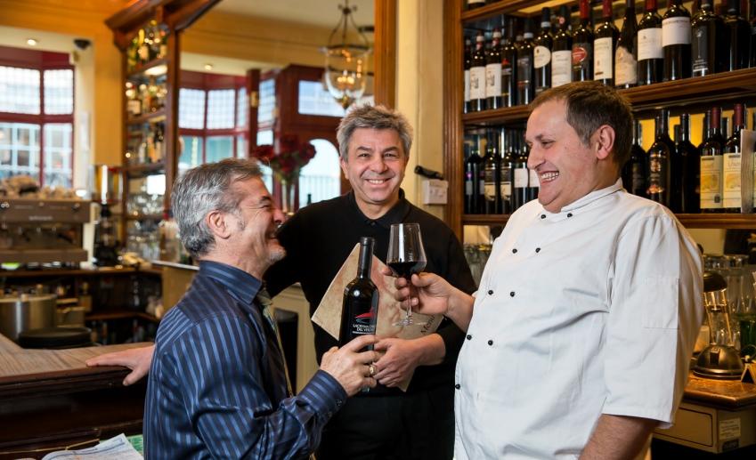 Martini a Bath, Luigi Lino, Nunzio e Franco