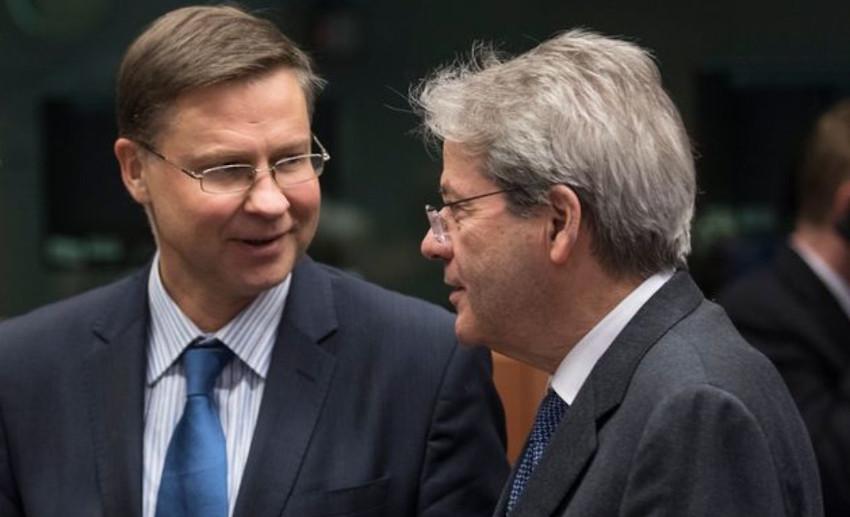 Mes Gentiloni e Dombrovskis