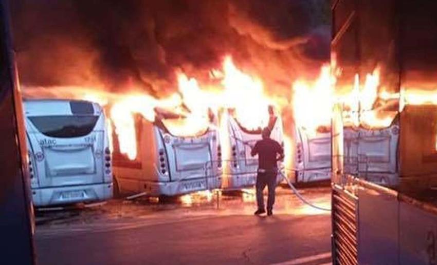 Deposito Magliana bus dati alle fiamme