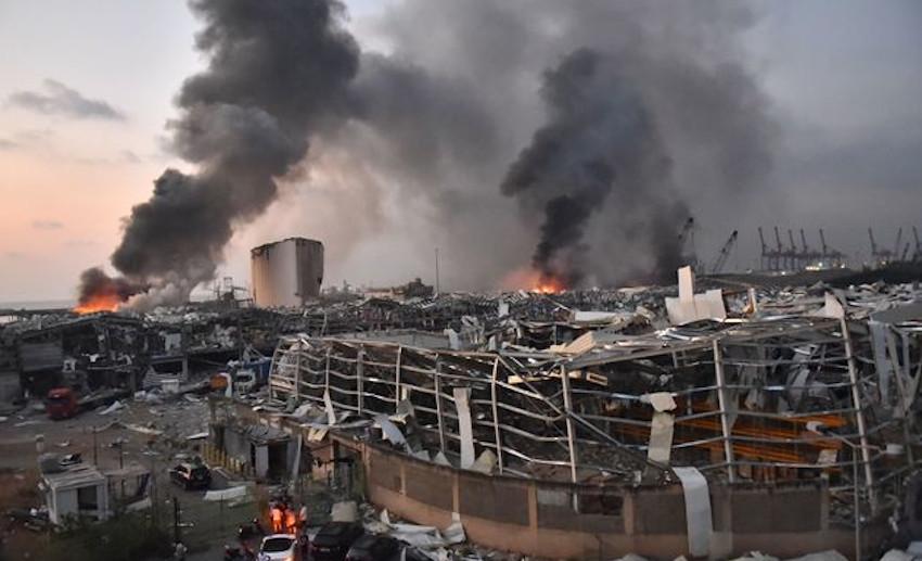 L'onda d'urto a Beirut