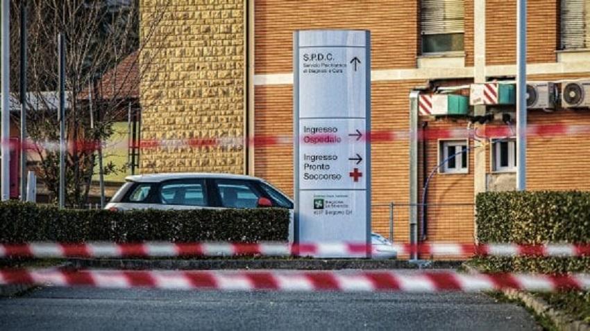zona rossa ad alzano e nembro: il pronto soccorso di alzano dopo l'inizio del lockdown