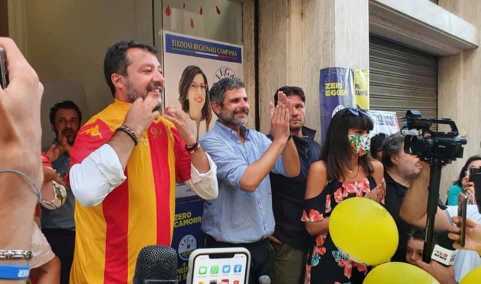 salvini mascherina benevento