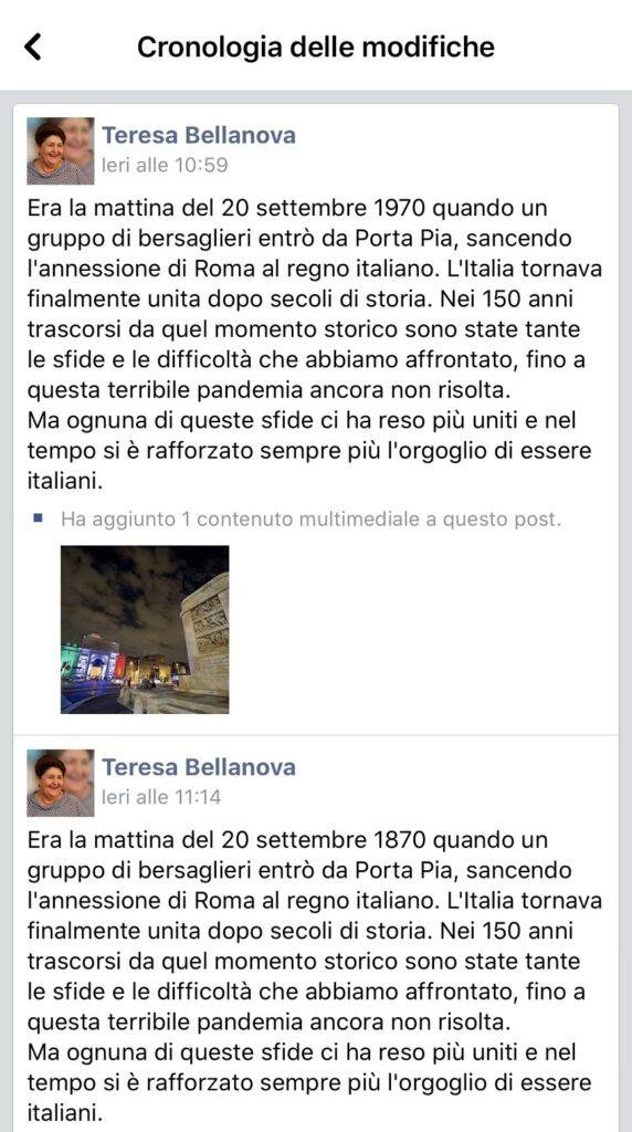 gaffe di teresa bellanova