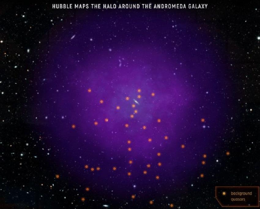 l'alone della galassia di andromeda