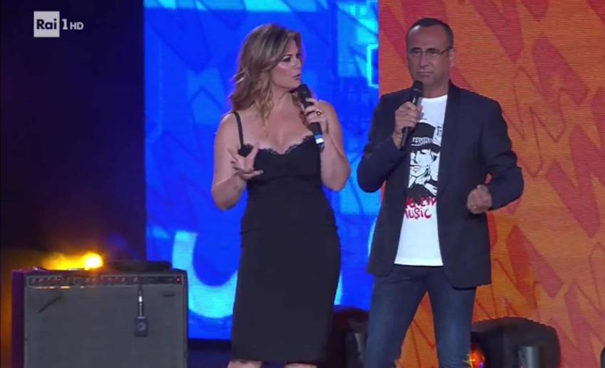 Vanessa Incontrada e Carlo Conti ai Seat Music Awards