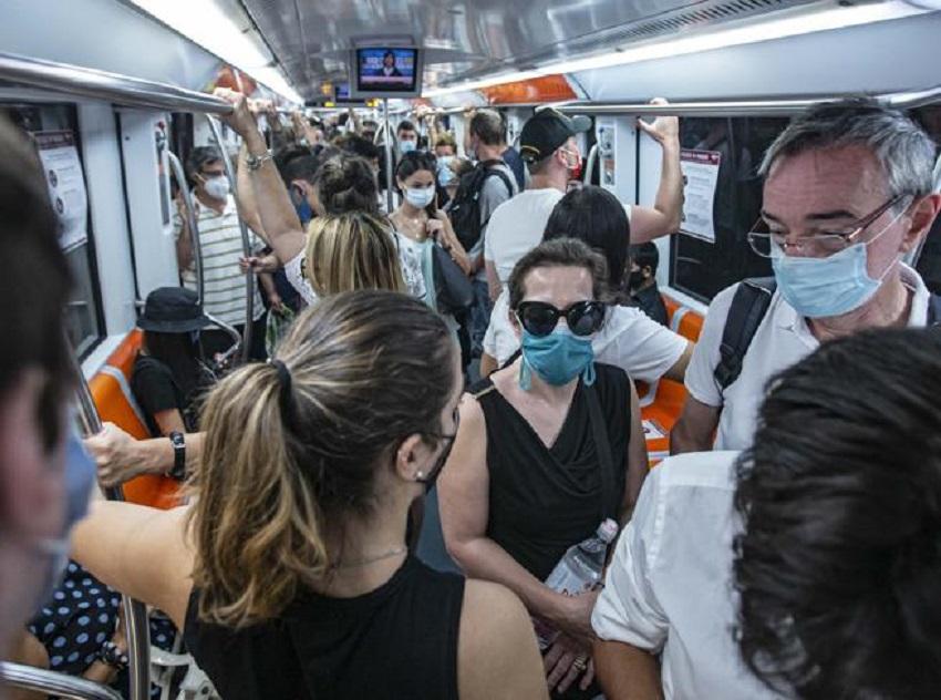 nuovo dpcm di ottobre: metro affollata a roma