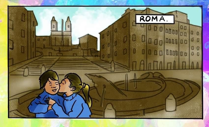 Striscia a fumetti Roma