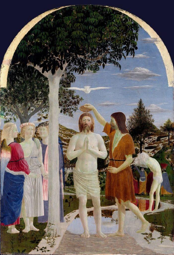 piero della francesca - battesimo di cristo