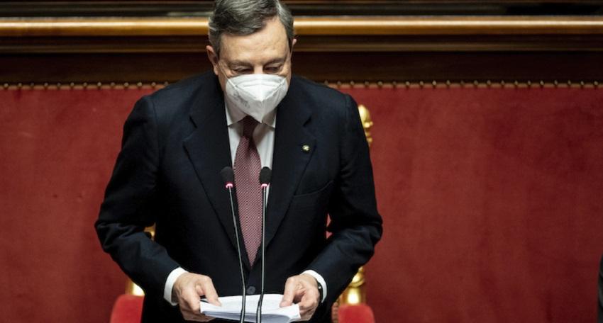 nuovo decreto: mario draghi in senato