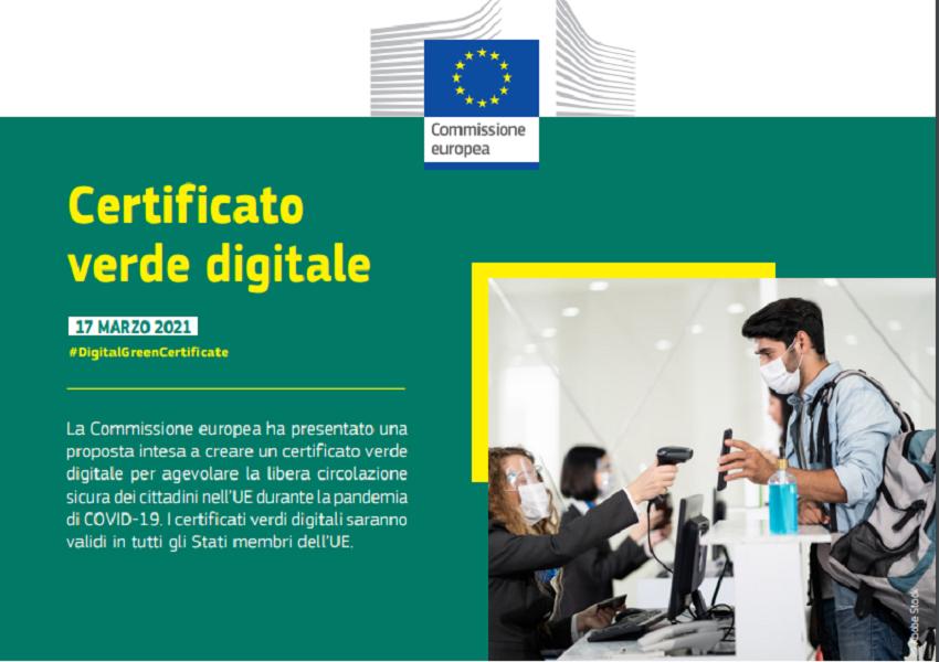 passaporto vaccinale: certificato verde digitale