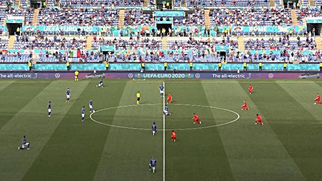 sport e politica, mezza italia in ginocchio contro il galles