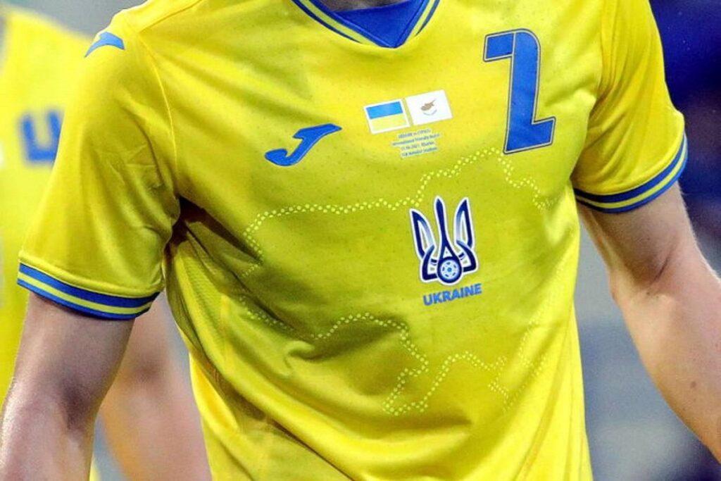 sport e politica, maglia dell'ucraina a euro 2020