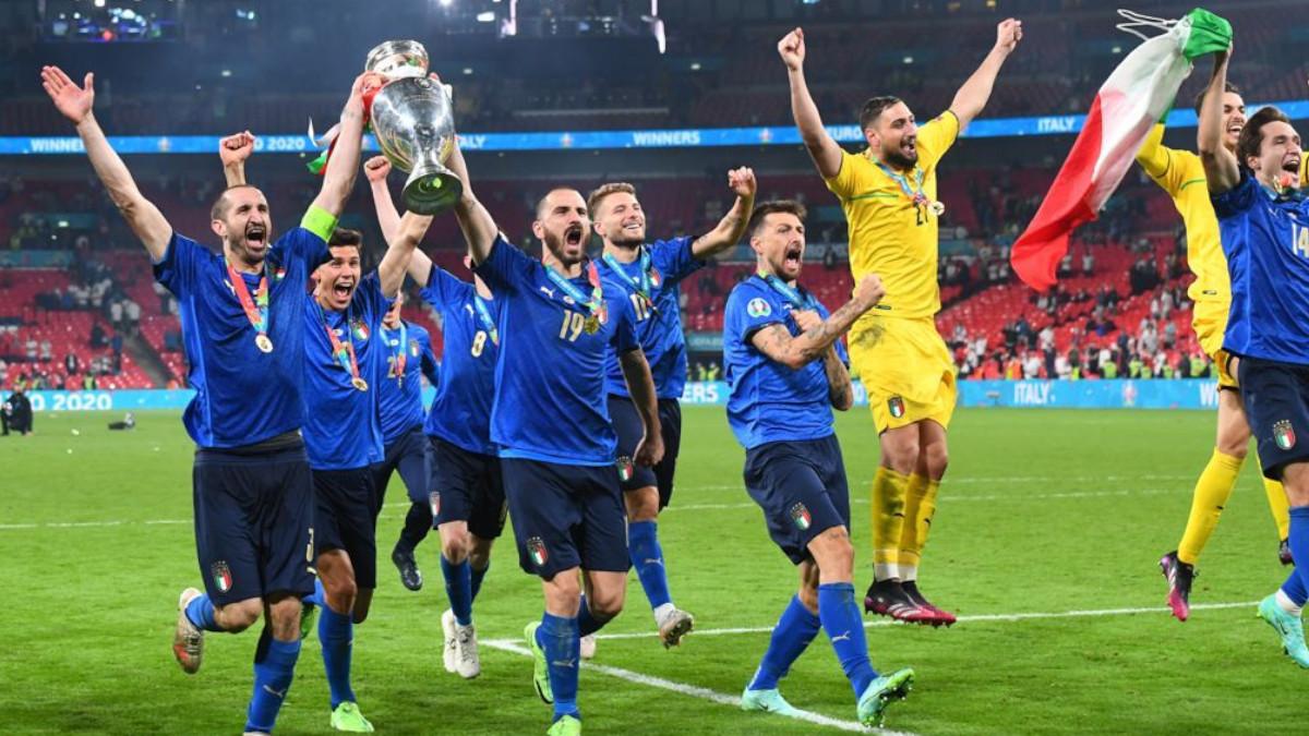 Italia Euro 2020 festeggiamenti finale