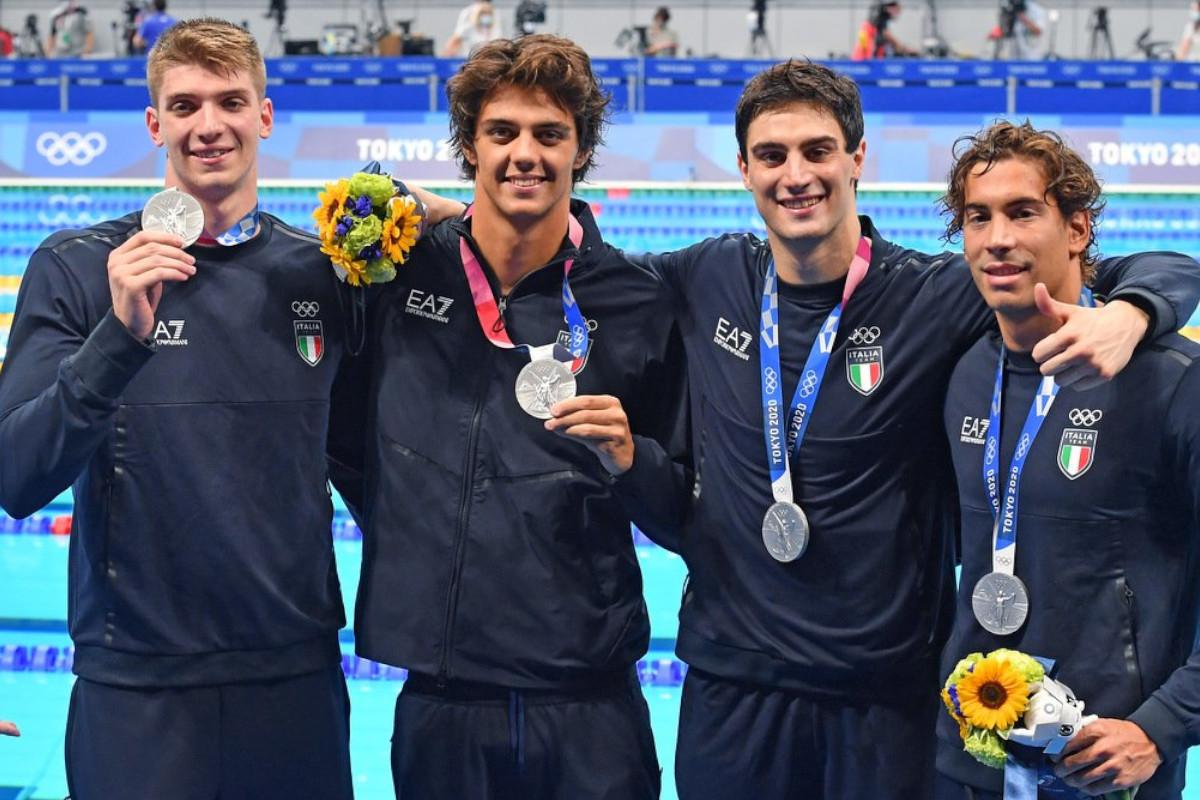 Ai Giochi Olimpici la staffetta 4x100 stile libero conquista uno storico argento