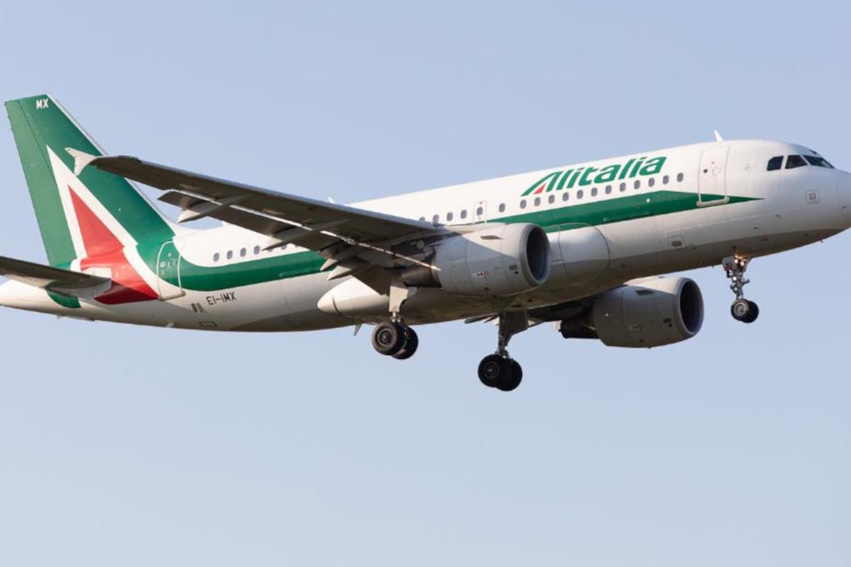 Un volo Alitalia in azione