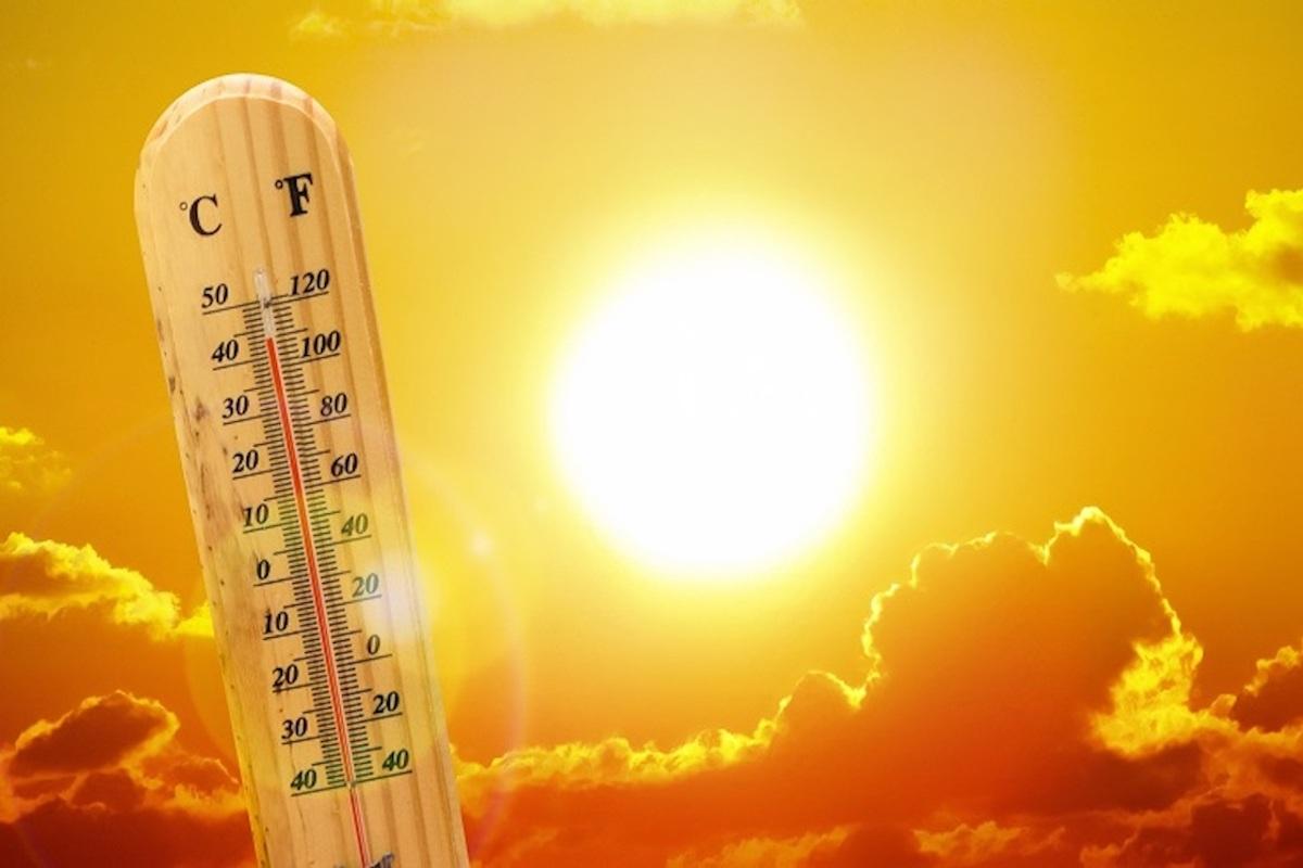Termometro che segna temperature elevate