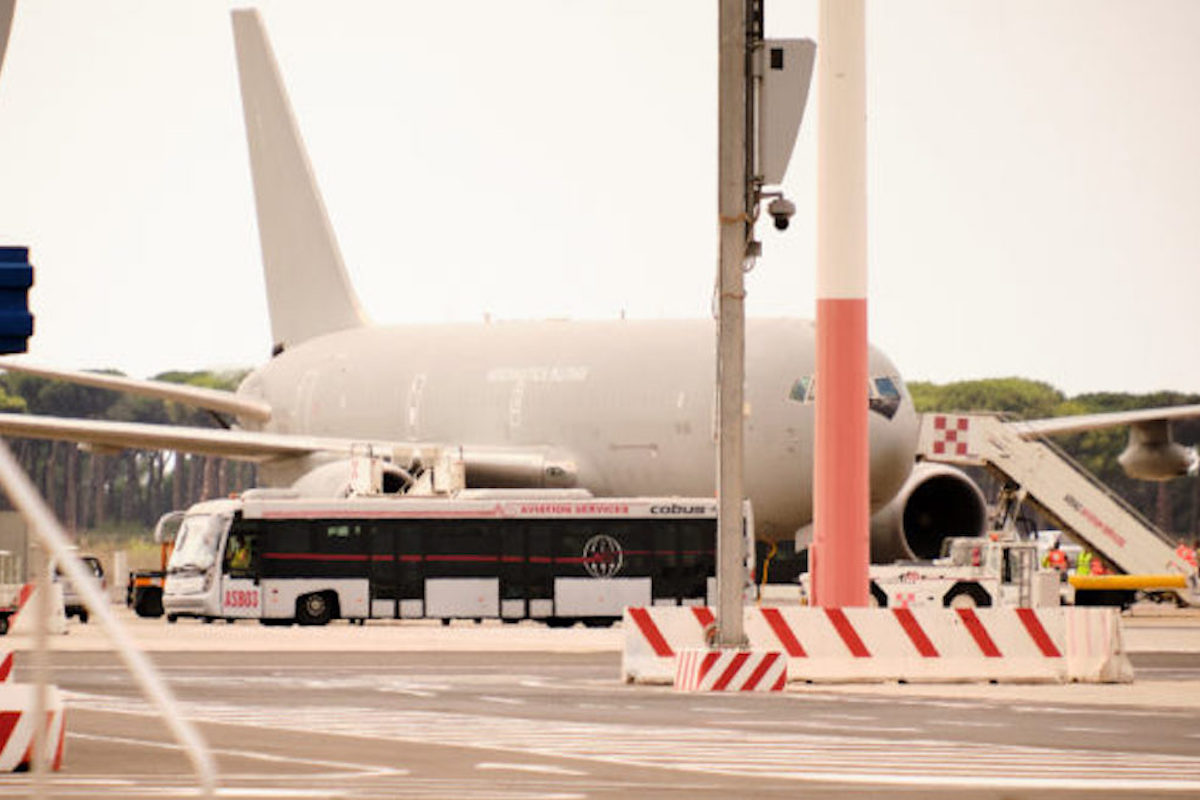 Aereo proveniente da Kabul atterrato a Fiumicino