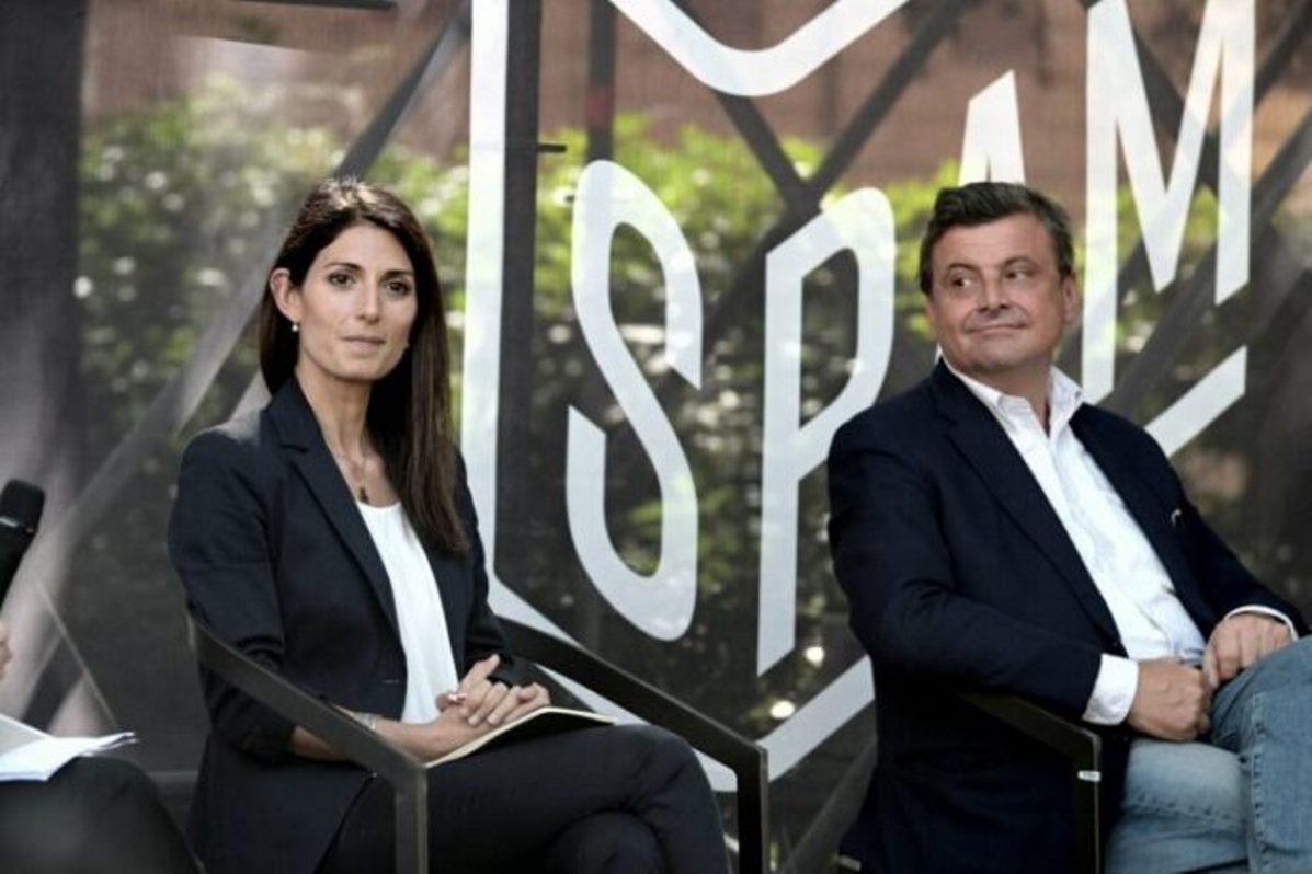 Virginia Raggi e Carlo Calenda