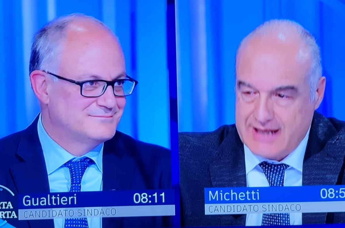 Roberto Gualtieri e Enrico Michetti