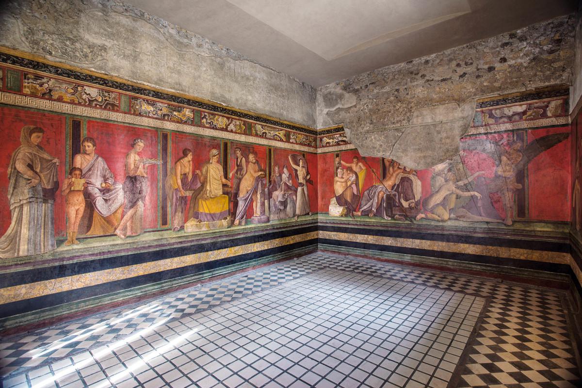 Interni area museale Pompei