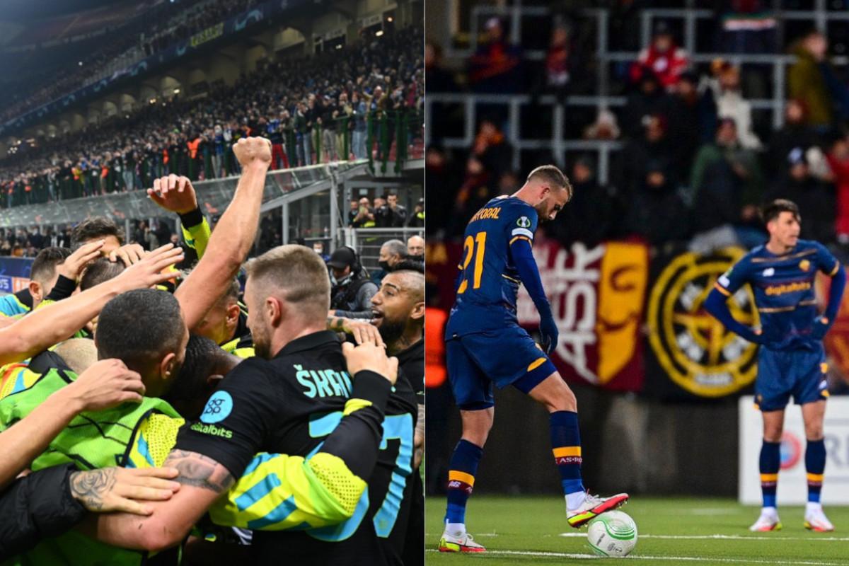 La festa dell'Inter, la delusione della Roma nella tre giorni di coppe europee